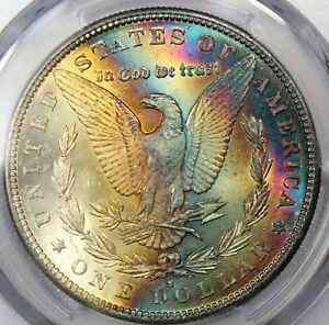 1882-S-Morgan-Dollar-PCGS-MS62-Toned-Rainbow-Color-Undergrade-PQ-BU-UNC-DR