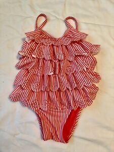 NWT Girls Baby Gap Pink Ruffle Bathing Swimsuit 3T
