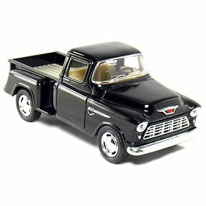 Kinsmart-1955-Chevy-Stepside-3100-Pick-up-truck-1-32-Diecast-Model-Car-Black