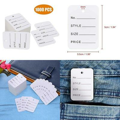 Price Tags,1000 Pcs Paper Tags,Perforated Merchandise Marking Tags,Clothes Tags,Coupon Tags,White Store Tags,2 x 1.4