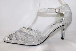 brautschuhe mit riemchen abend party high heels in silber. Black Bedroom Furniture Sets. Home Design Ideas