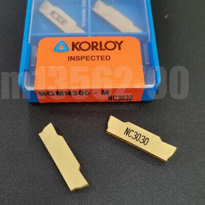 10Pcs MGMN300-M CNC Blade Groove Carbide Insert Grooving Cut-Off Tool 3mm Width