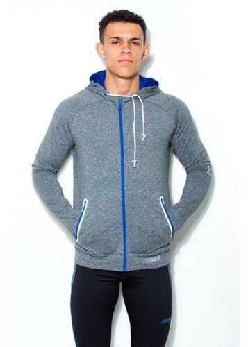 Mens USN Grey Zip Hoodie Size Small Training, Sports, Workout, Gym Hoodie
