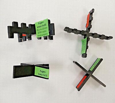 3 versch Verpackungseinheiten 100 St/ück Fugenkreuz stapelbar 60 x 3 x 20 mm