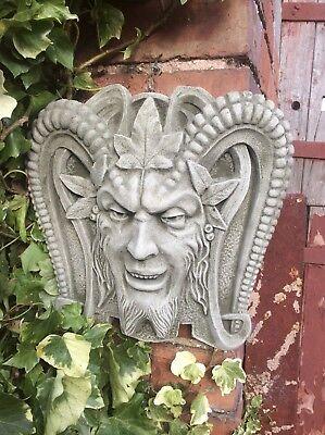 Plaque Silver Man in the Moon Terracotta Wall Hanging Garden Ornament BNIB