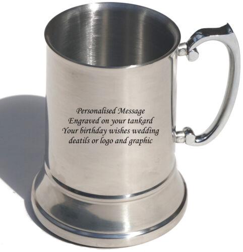 Christmas Gift Personalised Engraved Stainless Steel tankard