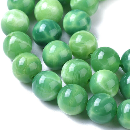 33pcs Natural Peacock Agate Beads Round Smooth Gemstone Loose Spacer Beads 12mm