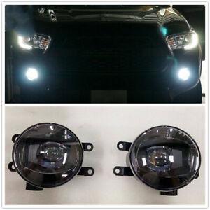 BLack LED Fog Light Driving Light For 2014-19 HIGHLANDER 2014-20 TUNDRA 4RUNNER
