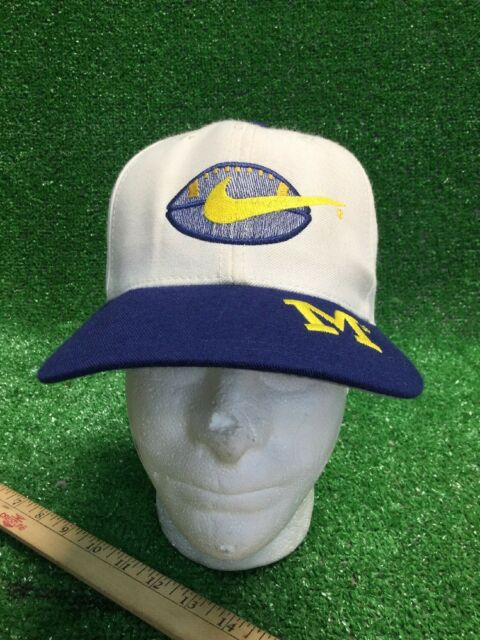 the best attitude a279b a2f68 Michigan Football Nike SnapBack Blue Yellow Wolverine Hat Cap Fast Free Ship