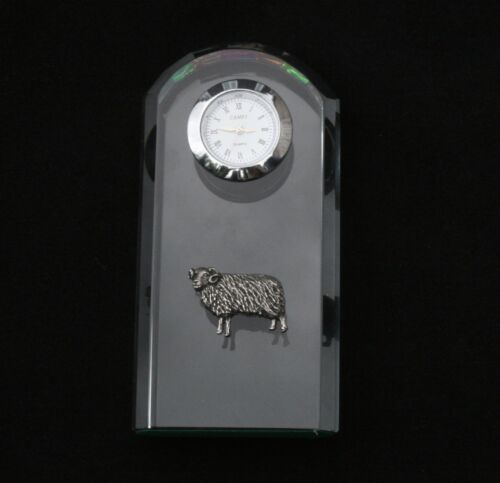 Aries The Ram Glass Clock Bedside or Desktop Horoscope Gift Boxed