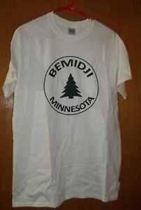 White-Gildan-Bemidji-Minnesota-Shirt-Size-M