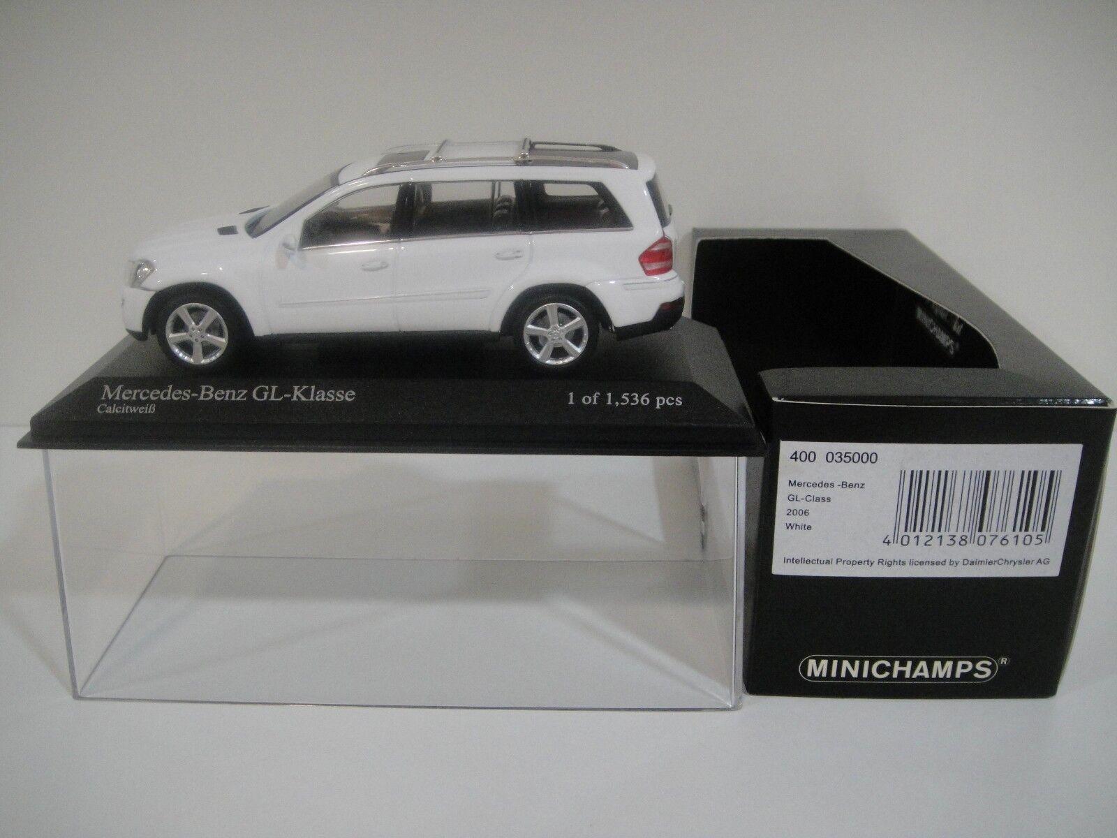 --1 43 MINICHAMPS. MERCEDES-BENZ GL-Class 2006. blanc.