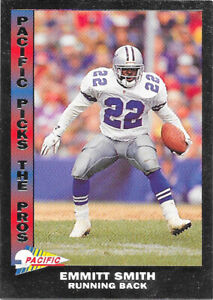 1992 Pacific Pick the Pros Silver #20 Emmitt Smith - Dallas Cowboys