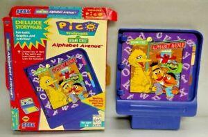 SEGA-Pico-Sesame-Street-Alphabet-Avenue-and-Box-for-Pico-Video-Game-System-Rare