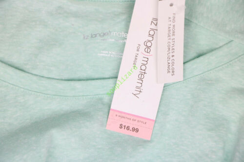 New Women/'s Maternity Shirt Top Ruche Mint Green Liz Lange NWT Size XL
