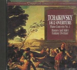 Music-CD-Tchaikovsky-1812-Overture-Piano-Concerto-No-1