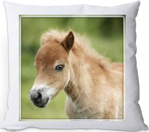 Kissenhülle KISSENBEZUG seidig weich 35x35cm Deko SOY 14 SHETLAND PONY Pferd