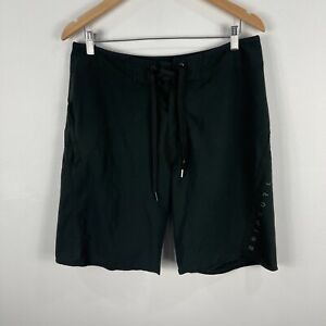 Rip-Curl-Mens-Board-Shorts-32-Black-Drawstring-Zip-Pocket