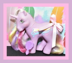 My-Little-Pony-MLP-G1-Vtg-Rainbow-Curl-Rider-STREAKY-Purple-Unicorn-Music
