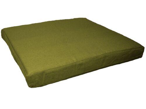 Aa130t Vert Olive Coton Toile Boîte 3D canapé siège Housse de coussin Taille personnalisée *