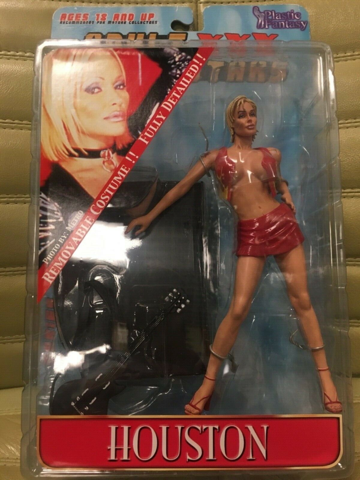 Adult XXX Superstars Houston in rot Clothes Action Figure Plastic Fantasy