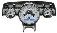 Dakota Digital 57 Chevy Car Analog Dash Gauges System Silver Alloy Blue Vhx-57c