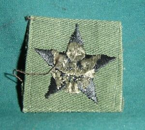 General-Staff-Officer-Rank-PATCH-Collar-Sew-On-OD-Green-Material-U-S-Army