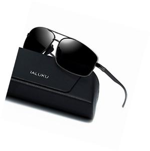 62389c0c23 Image is loading IALUKU-Rectangular-Polarized-Sunglasses-for-Men-Square- Retro-