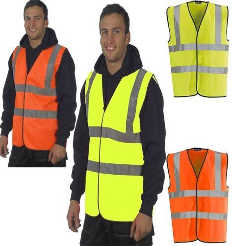 Adult EN471 Waistcoat Hi Vis High Viz Executive Top Mens Safety Visibility Top