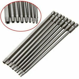 8-Stk-Torx-Bits-Schraubendreher-Set-Extra-Lang-150Mm-Und-Magnetisch-DE