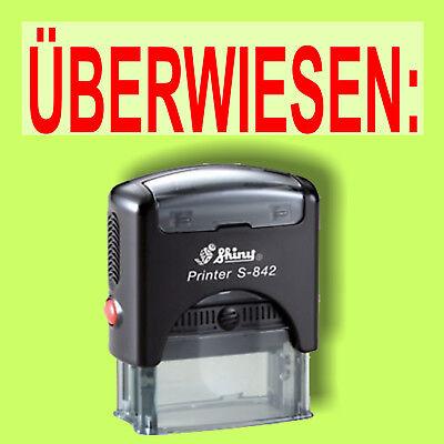 Clever Überwiesen - Shiny Printer Schwarz S-842 Büro Stempel Kissen Rot