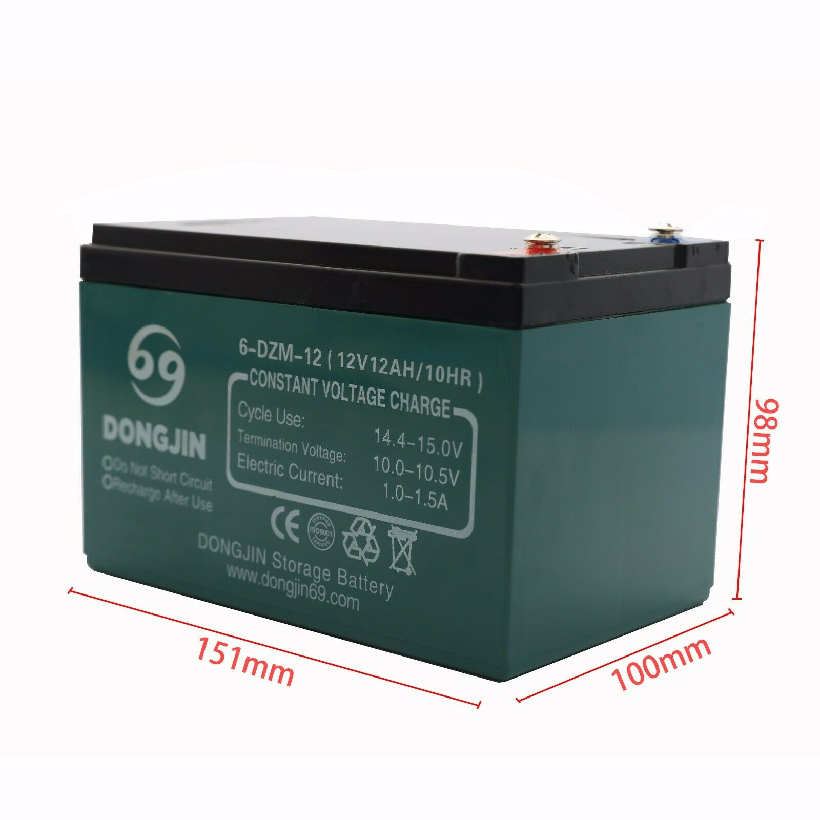 12V 12Ah 6-DZM-12 Rechargeable Battery for Mobility Scooter Electric Tricycle