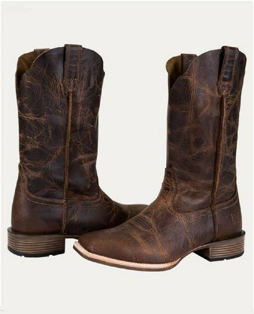 Noble Outfitters Ladies All Around Distressed Square Toe Leather Cowboy Boots