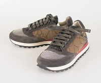Brunello Cucinelli Brown Leather W/ Monilli Sneakers Shoes 35.5/5.5 $1245 on sale