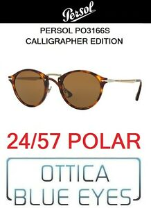 91fa876a146 Image is loading Sunglasses-Persol-PO-3166-24-57-Polarized-Calligrapher-