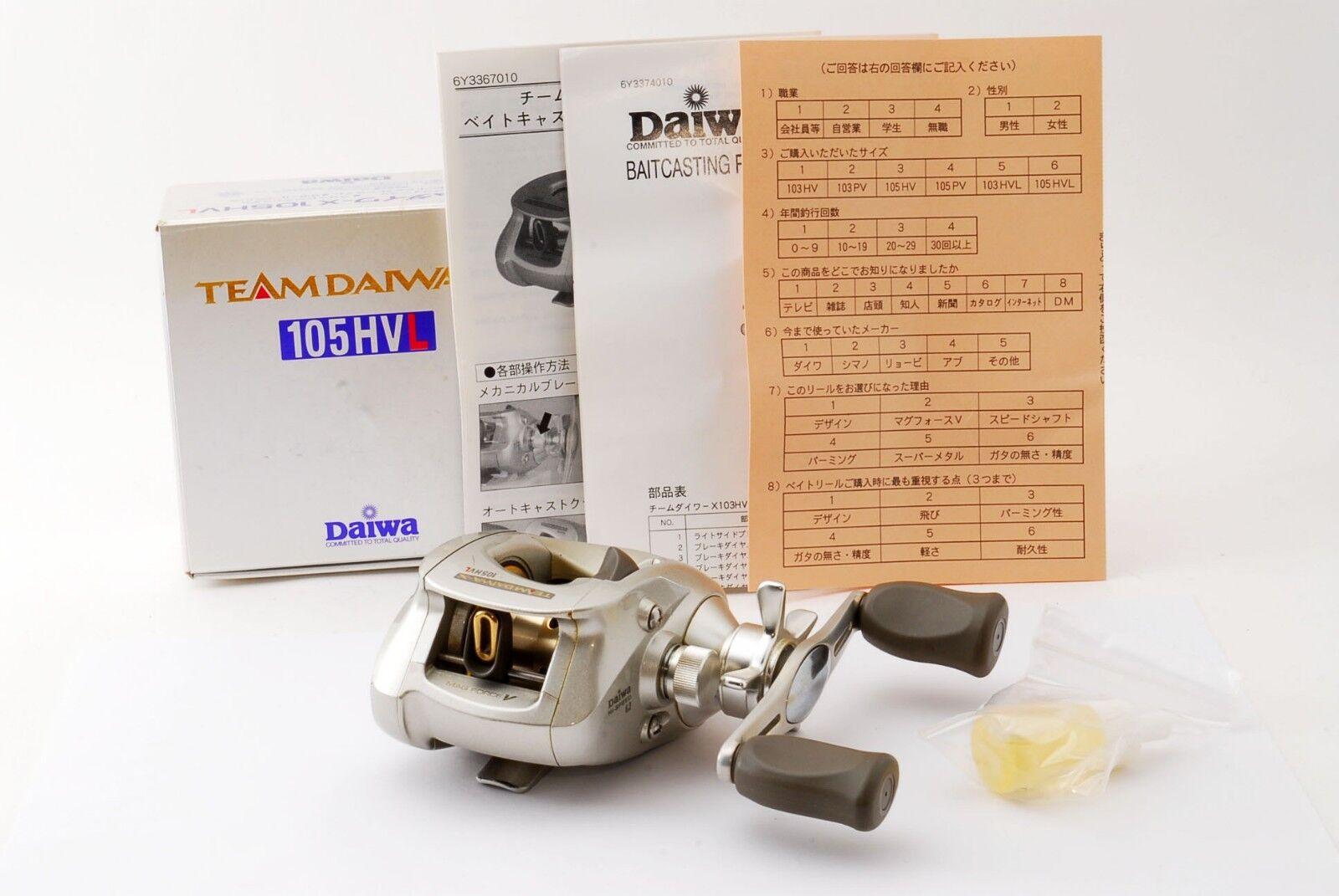 Daiwa TD-X 105HVL Baitcasting Left handed Baitcasting 105HVL Reel from Japan 【Excellent】 666747