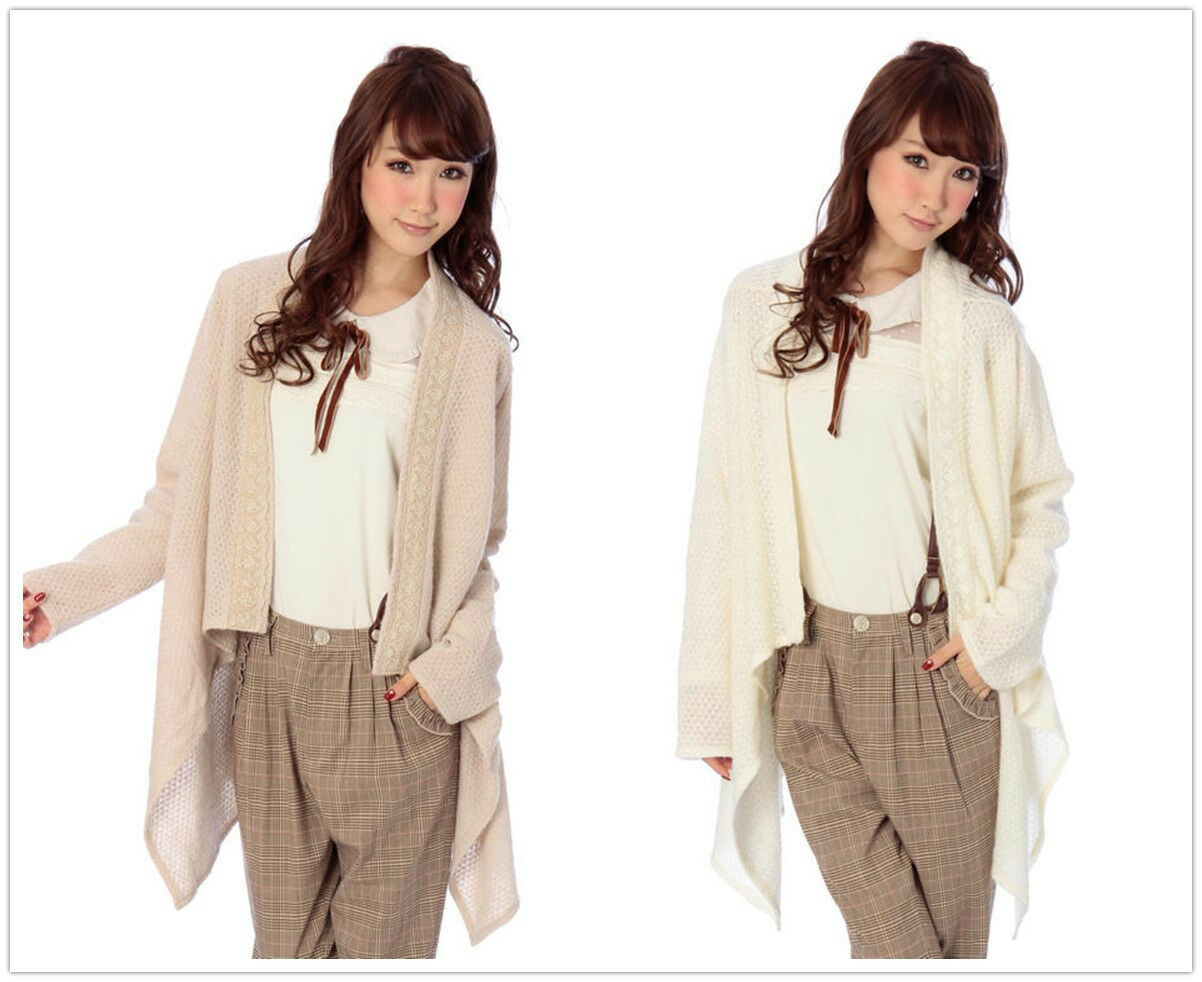 Genuine Liz Lisa Knit Cardigan with embroidery on the edge BNWT 2 colours
