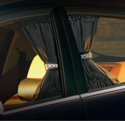 50cm Black Adjustable VIP Car Window Mesh Interlock Curtain UV Sunshade Visor X2