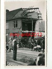 Foto, zerstörte Häuser, Lodewijkstraat, Kerkrade, Holland, (1708)