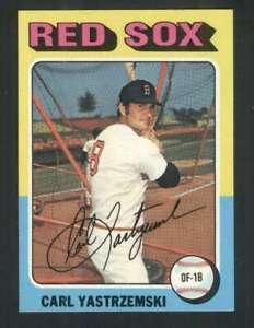 1975 Topps #280 Carl Yastrzemski NM/NM+ Red Sox 114679
