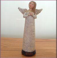 Baptism Prayer Angel Figurine By Teresa Kogut 7.5 Inches High Free U.s. Shipping