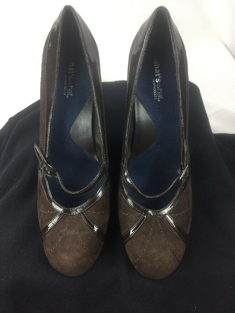 Whats What by Aerosoles damen braun Suede Loafers Heels Career schuhe 8.5M