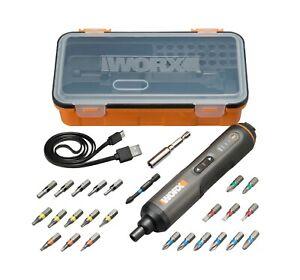 WORX-4V-Screwdriver-with-24-piece-kit