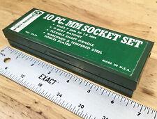 Vintage Oxwall Green Metal Socketratchet Tool Box For Set No 393s Usa Empty