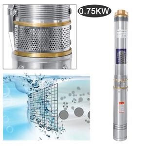 750-Watt-Tiefbrunnenpumpe-4000-L-h-Tauchpumpe-230V-Alu-Gartenpumpe-Brunnenpumpe