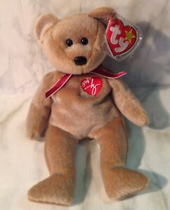 Ty 1999 Signature Bear Beanie Baby Excellent! error info based on other listings