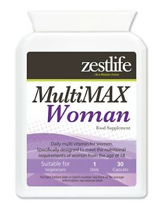 Zestlife MultiMAX vitamins for WOMEN  help maintain good health and vitality