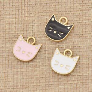 Cartoon-Cat-Design-Pendant-Enamel-Elegant-Animal-Jewelry-Making-Accessories-Deco