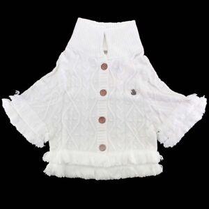 competitive price a5d18 aad41 Dettagli su Maglione donna Duck Farm cappa intrecciato col. bianco