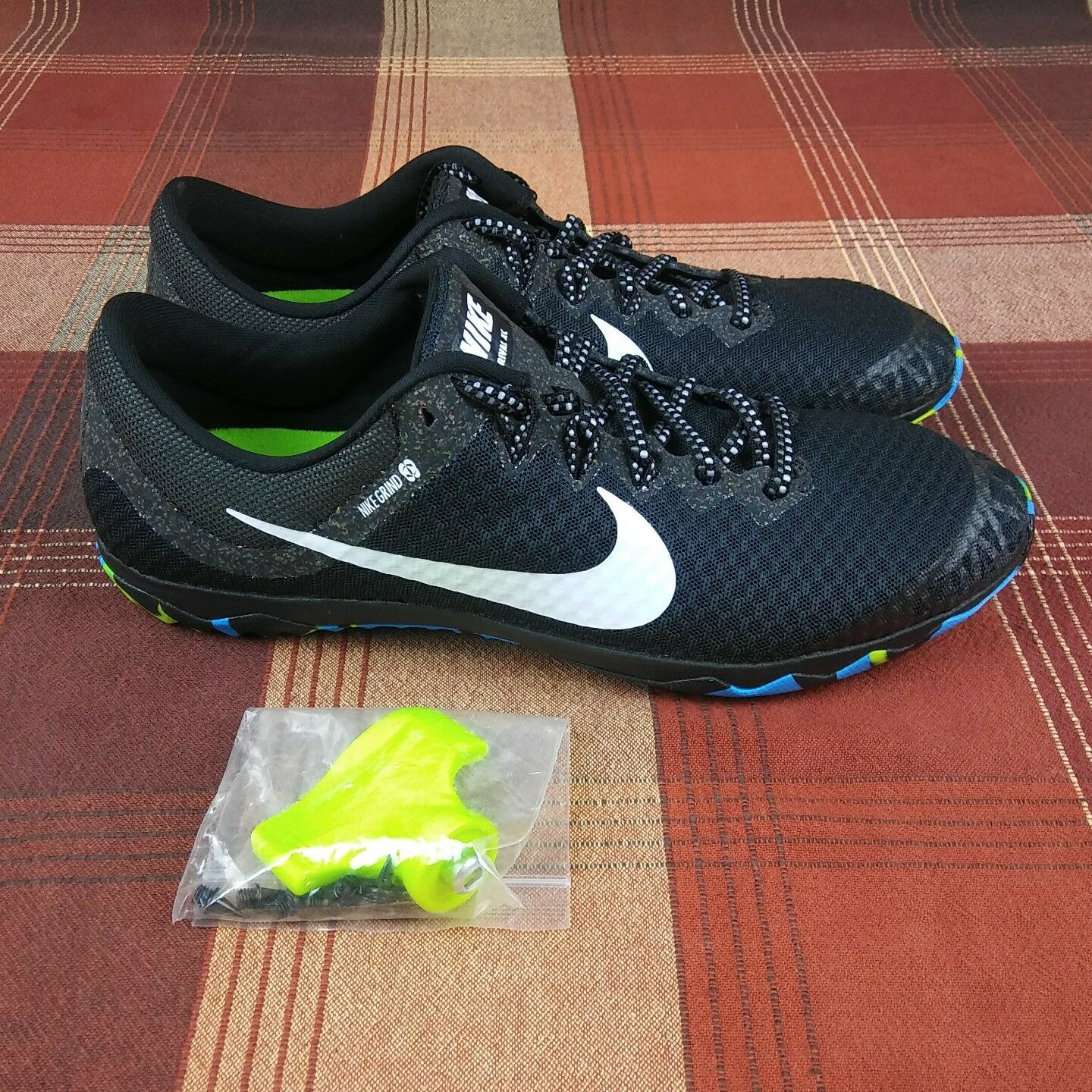 NIKE Zoom Rival XC Track Running Spikes Shoes Black Men's Comfortable Comfortable and good-looking